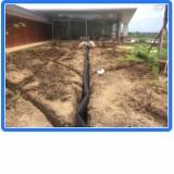 sistema de drenagem de terreno